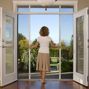 Retractable flyscreens north shore aluminium for Flyscreens for french doors