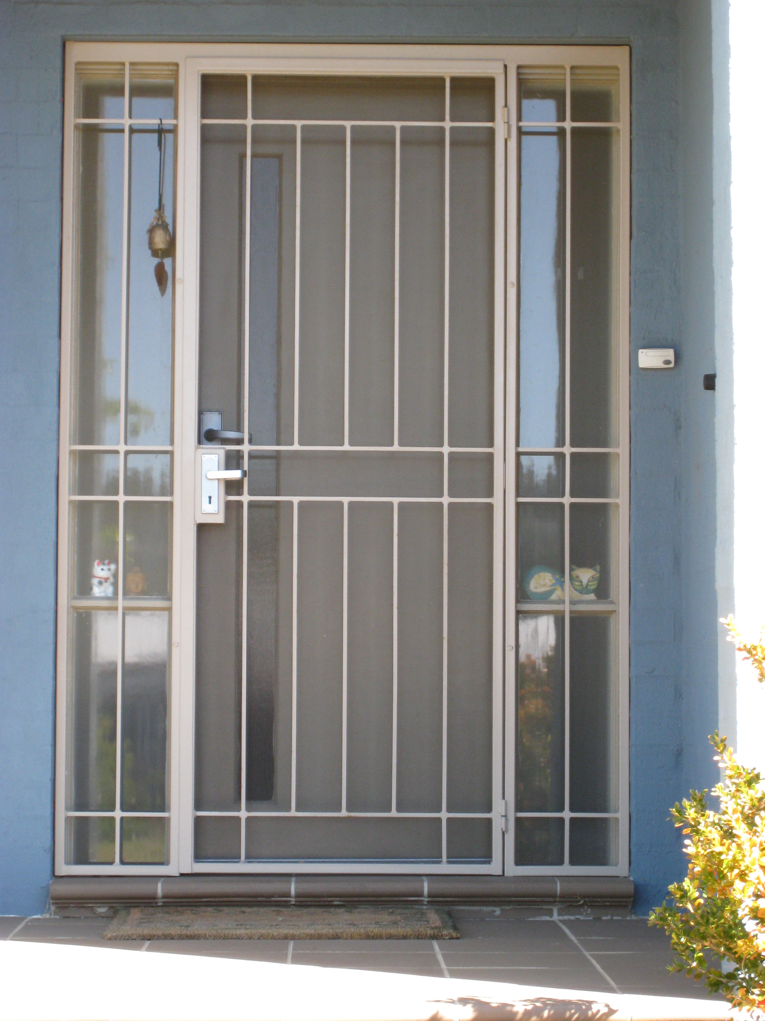 Interior steel security doors examples ideas pictures just another doors design - White security screen door ...